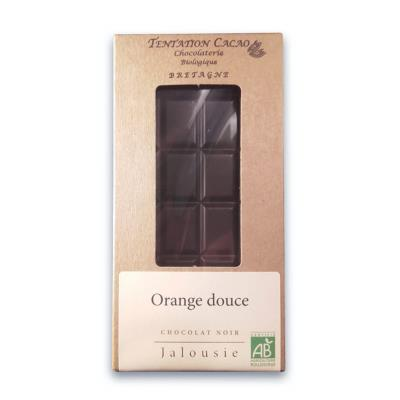 Tablette Chocolat Noir 72% Douceur d'Orange 70g