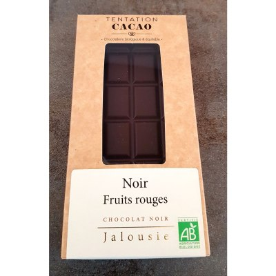 Tablette de Chocolat Noir 72% Fruits Rouges